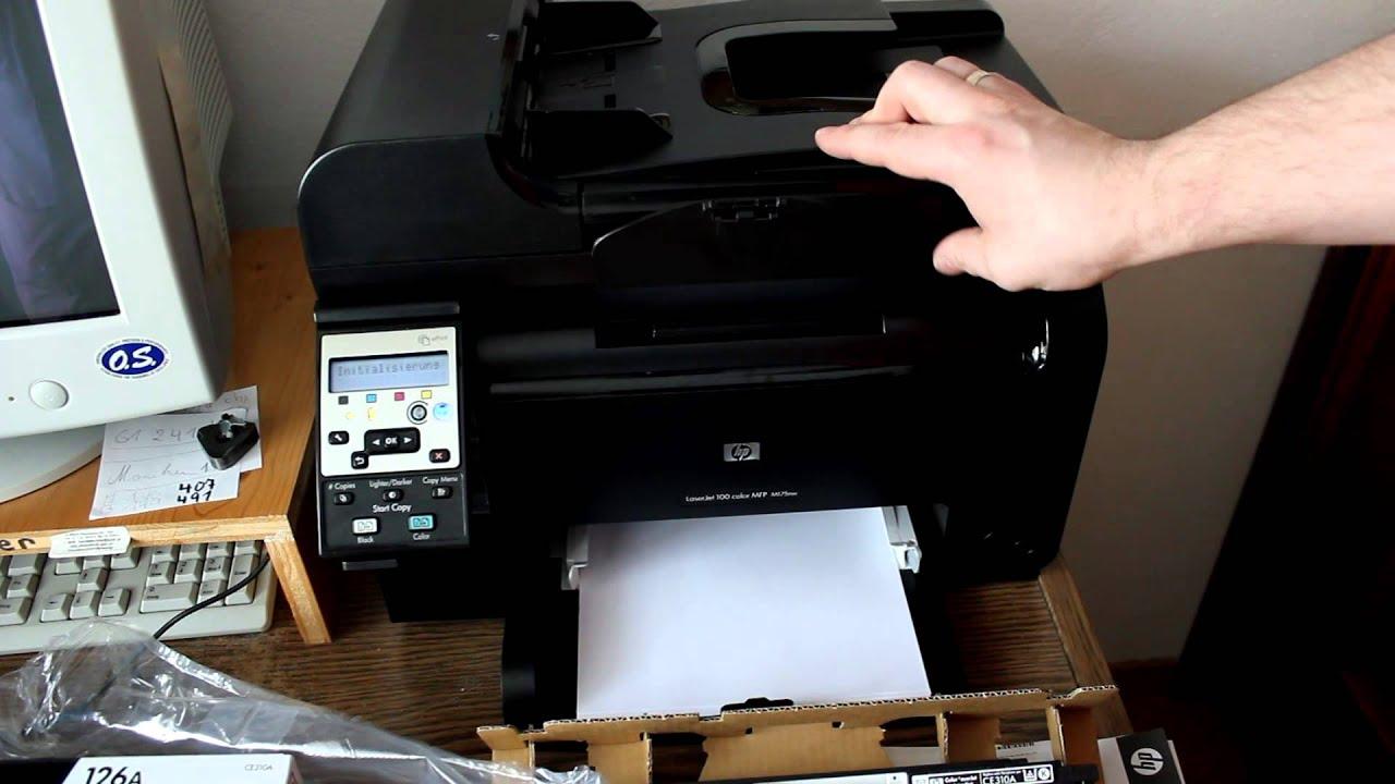 Toner Tauschen HP LaserJet Pro 100 M175nw Teil 01 01