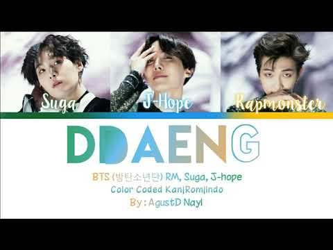[INDO SUB] BTS RM, SUGA, J-HOPE - DDAENG (Color Coded Lyrics Kan|Rom|Indo)