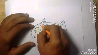 How to draw cute fish