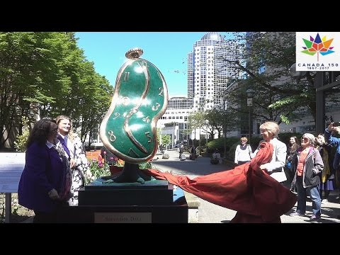 Salvador Dali Melting Clock in Vancouver 2017 for Canada 150