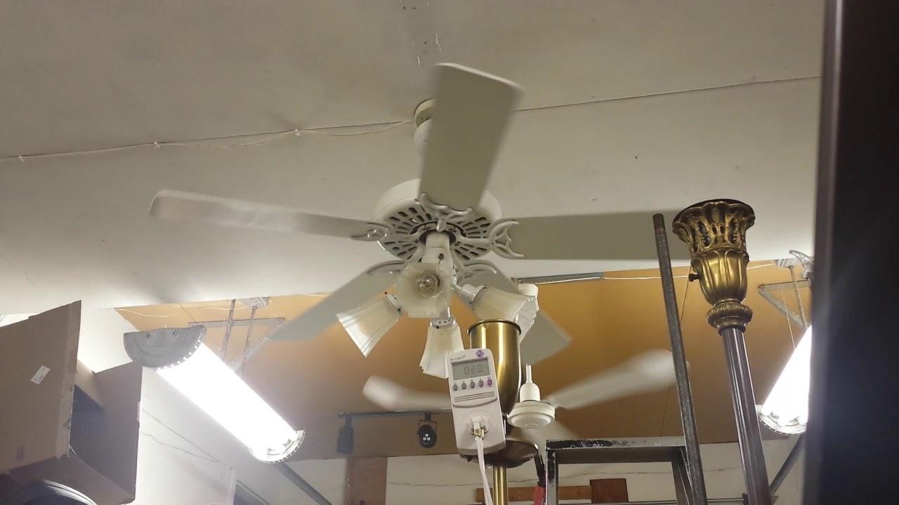 Hunter 52 Quot Original Ceiling Fan Model White With Hunter Light Kit Youtube
