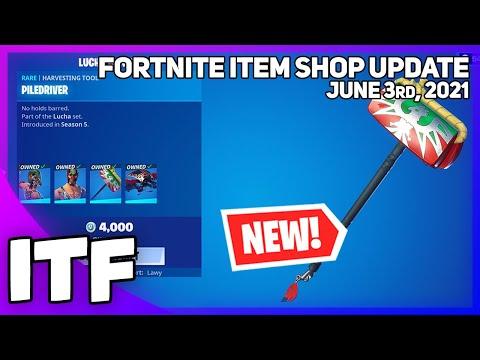 Fortnite Item Shop *1000 DAY RARE* LUCHA SET + *NEW* SKIN SET! [June 3rd, 2021] (Fortnite BR)