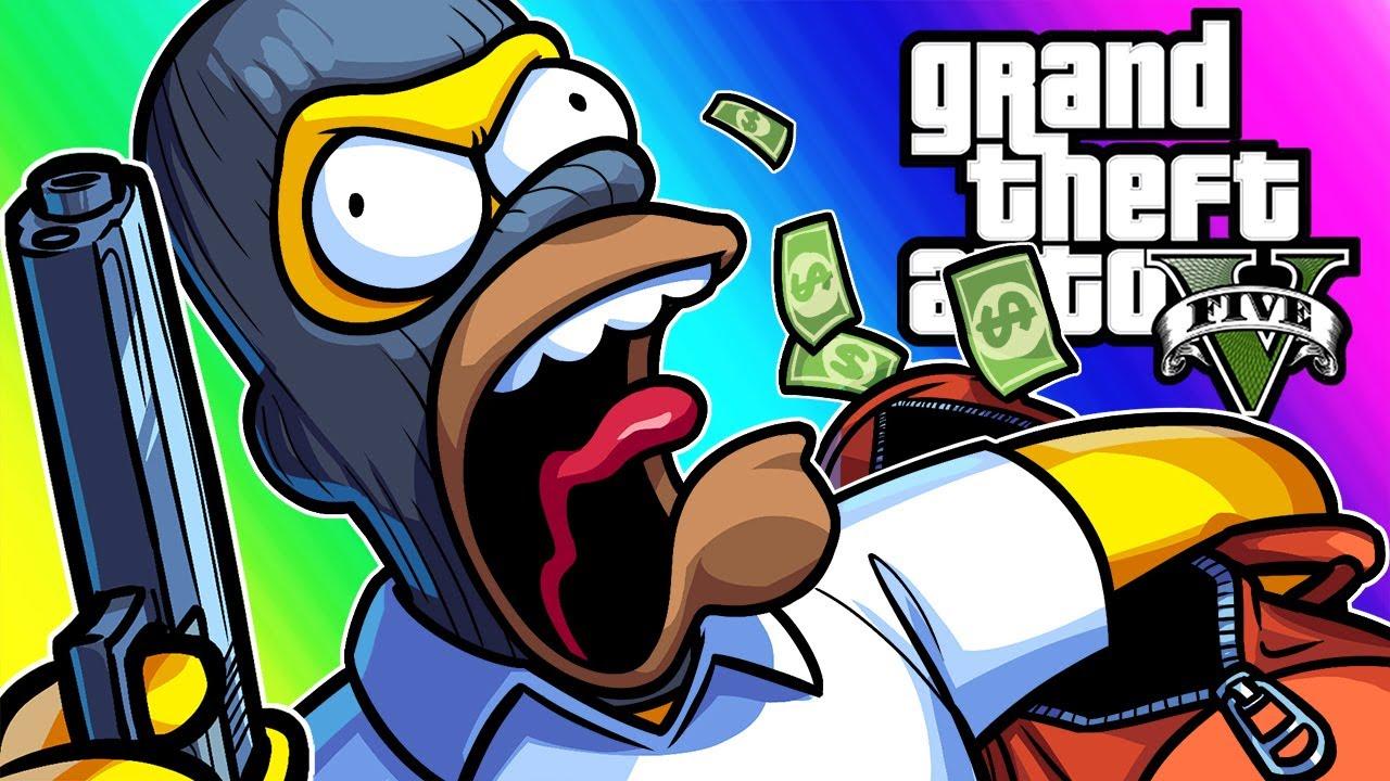GTA 5 Mods - Homer Simpsons Heist! (Alpha Betas Kickstarter Announcement!)