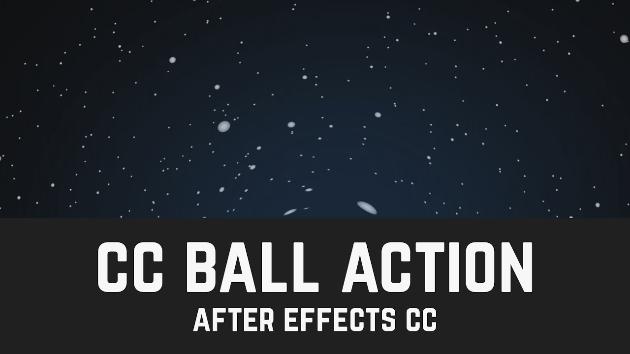 How to Space Background in After Effects (CC Ball Action) - T006