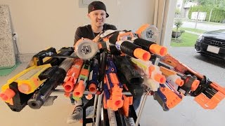NERF BATTLE RACER vs BOOMCO BLASTER BUGGY 2!   Nerf War!