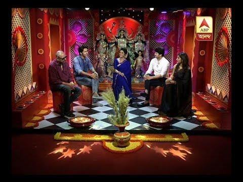 Jishu Senguta, Anjan Dutta, Anirban and Srinanda enjoying Pujor adda with ABP Ananda