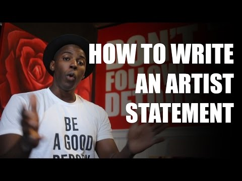 How to write an artist statement for artist