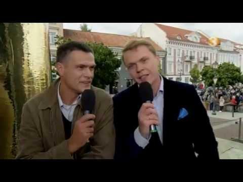 Lietuvos krepšinio rinktinės sutiktuvės Rotušės aikštėje Vilnius 2013