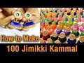 OMG! 100 jimikki kammal | how to make jimikki kammal at home | silk thread jhumkas earring | DIY