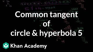 IIT JEE Circle Hyperbola Common Tangent Part 5