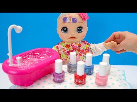 КАК МАМА Делала Детский Маникюр Мультики для детей с Игрушками Куклы Пупсики 108мама тв