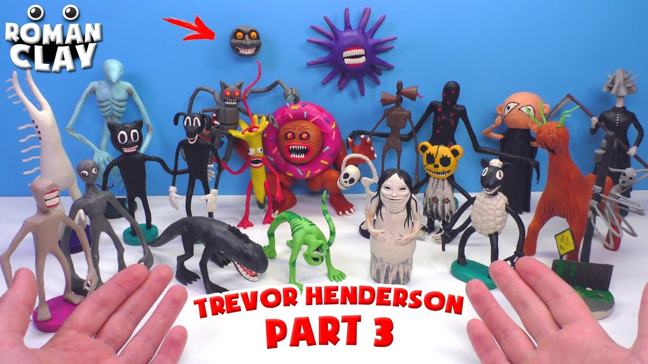 ALL MONSTERS Trevor Henderson with Clay | PART 3