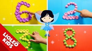 Dạy bé tập đếm tiếng Anh từ 1 đến 10 bằng cát động lực   Numbers