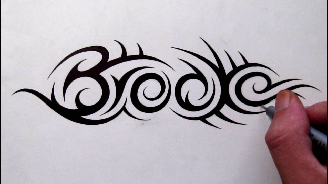 custom tattoo designs hidden tribal name brooke youtube. Black Bedroom Furniture Sets. Home Design Ideas