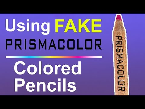 USING FAKE PRISMACOLOR PENCILS (Counterfeit supplies)