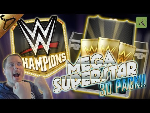 MEGA SUPERSTAR 30 PACK OPENING! CHASING 3 STAR SILVER CARDS!  | WWE Champions