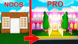 Reacting To My FIRST Bloxburg MANSION Build - EMBARRASSING! (Roblox)