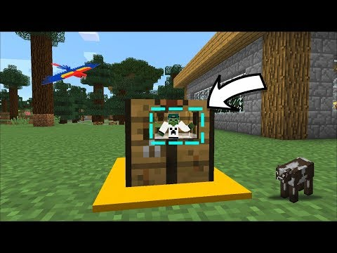 BUILDING A HOUSE IN A CRAFTING TABLE MINECRAFT !! HOUSE MOD !!