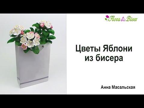 Схема цветок яблони из бисера