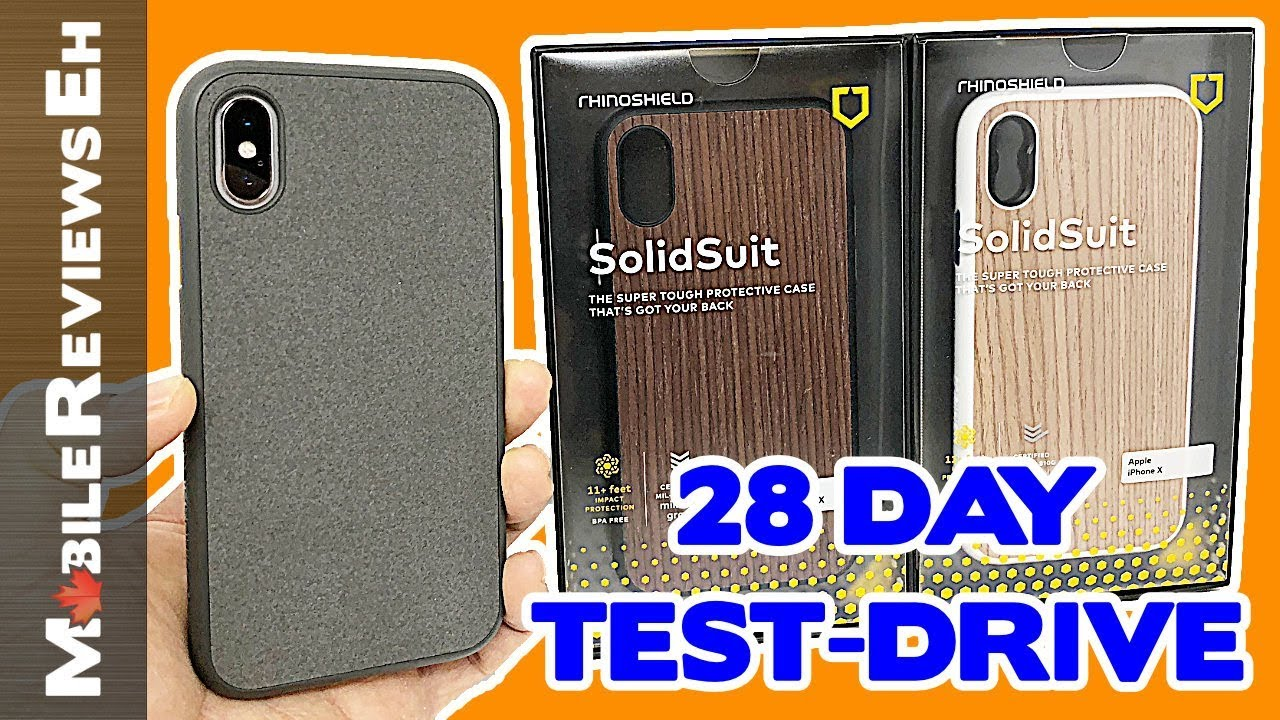 big sale 1fbf3 a2d20 IT'S BACK! - RhinoShield SolidSuit Review - iPhone XS and iPhone 8