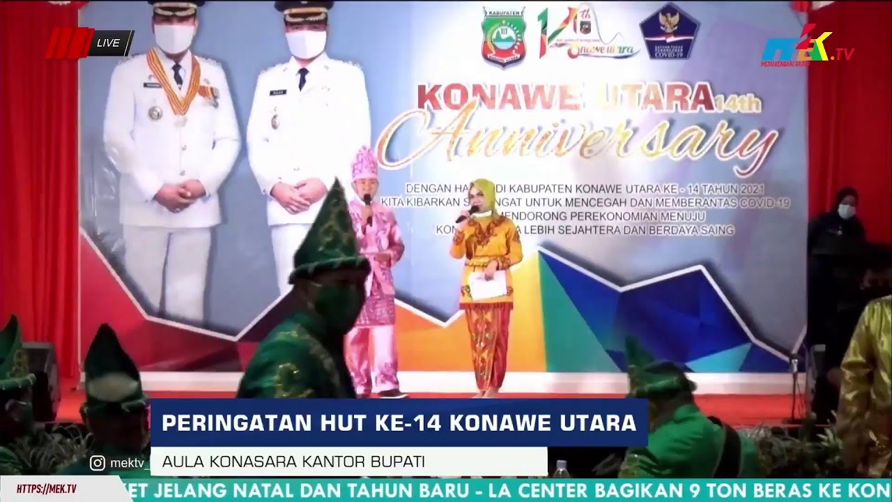 (LIVE DELAY) Acara Peringatan HUT ke-14 Konawe Utara