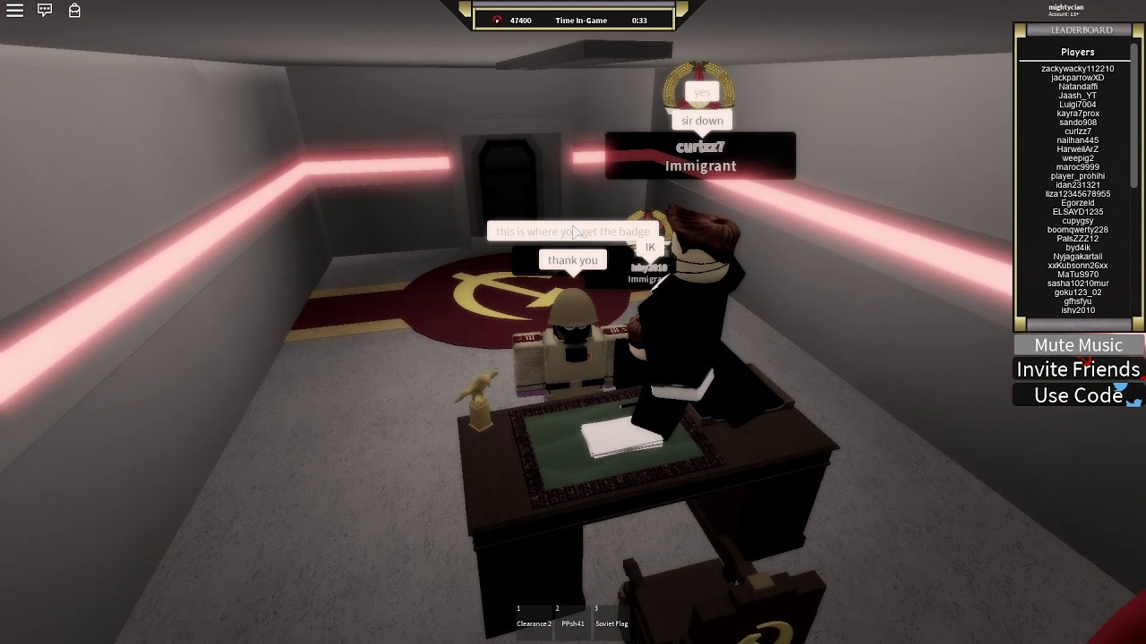 How to get the Premiers Chair Badge in Roblox Military ...