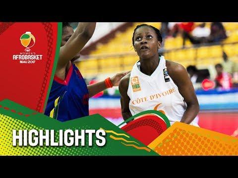Cote D'Ivoire v CAF - Highlights - AfroBasket Women 2017