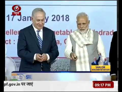 PM Modi, Israel PM Netanyahu visit Centre of Excellence for Vegetables