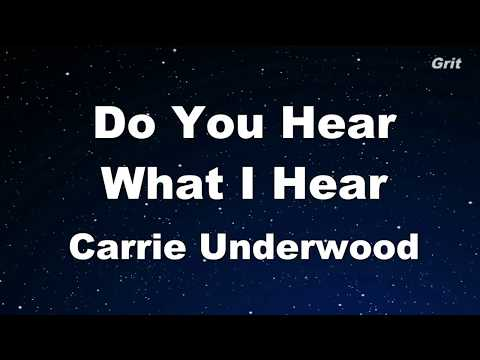 Do You Hear What I Hear? - Carrie Underwood Karaoke 【No Guide Melody】 Instrumental