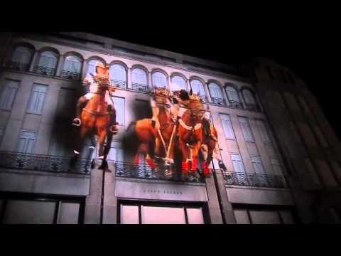 Ralph Lauren projection on Bond Street  YouTube