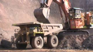 CAT 785C Dump Truck at Woodie Woodie mine site, Western Australia.
