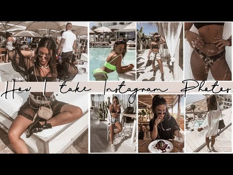 How I Take + Edit Instagram Photos - IBIZA EDITION! BTS