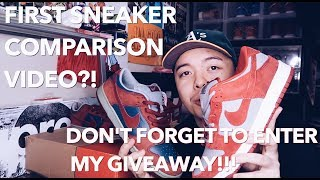 NIKE SB DUNK COMPARISON + ON FOOT (GIVEAWAY REMINDER!)   SNEAKER REVIEW EP. 4