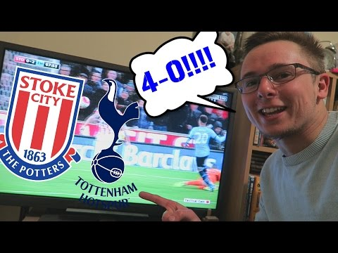 STOKE VS TOTTENHAM 4-0!! WHAT A GAME!! KANE AND ALLI DOUBLE! - 18/04/2016