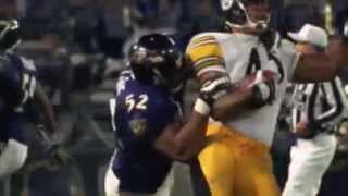 Ray lewis hard hit highlight greatest tackler of alltime
