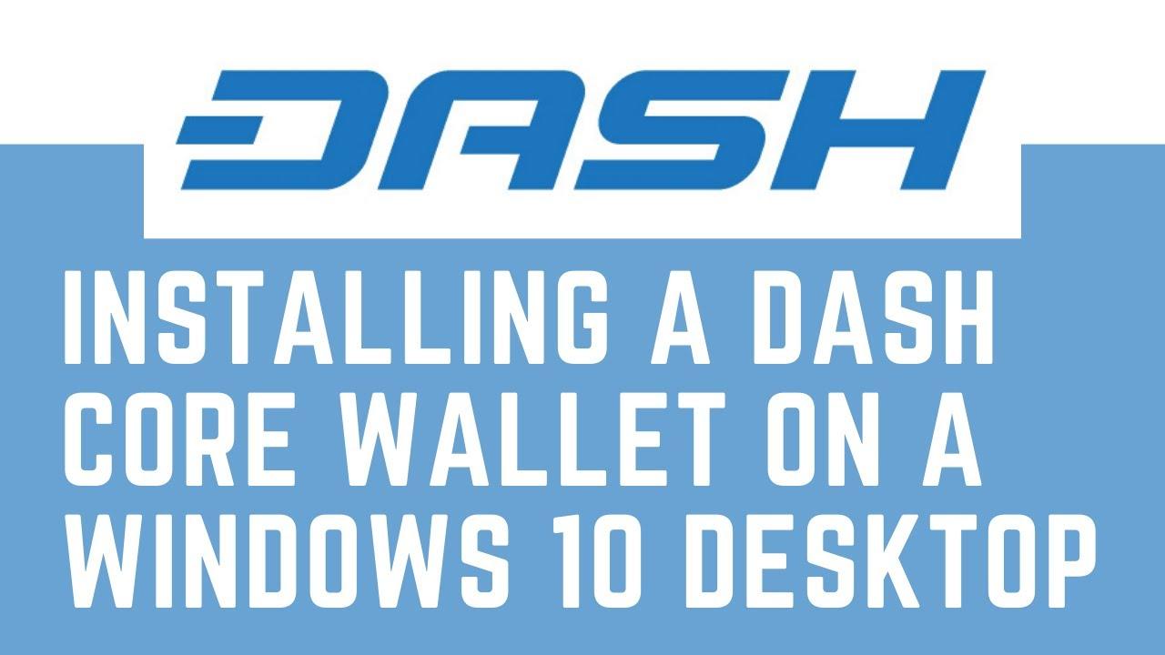 Visuel du portefeuille Dash Core