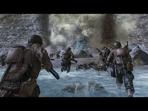 D-Day - Pointe du Hoc / Normandy 1944 - Call of Duty 2 - Part 7 - 4K |