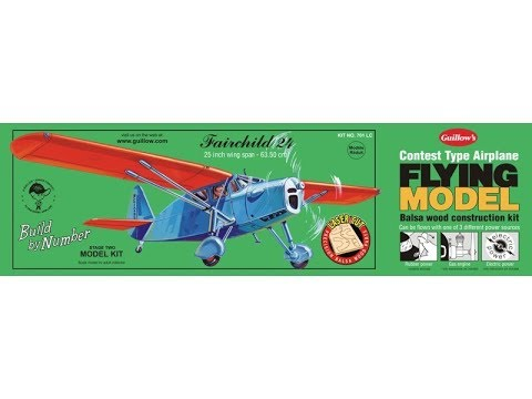 Unboxing of the Guillows Fairchild 24 balsa model kit Number 701 with Laser cut parts