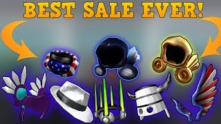 The BEST Roblox SALES EVER!! (HUGE ITEMS!)