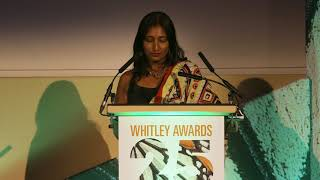 Anjali Watson's speech at the Whitley Awards 2018