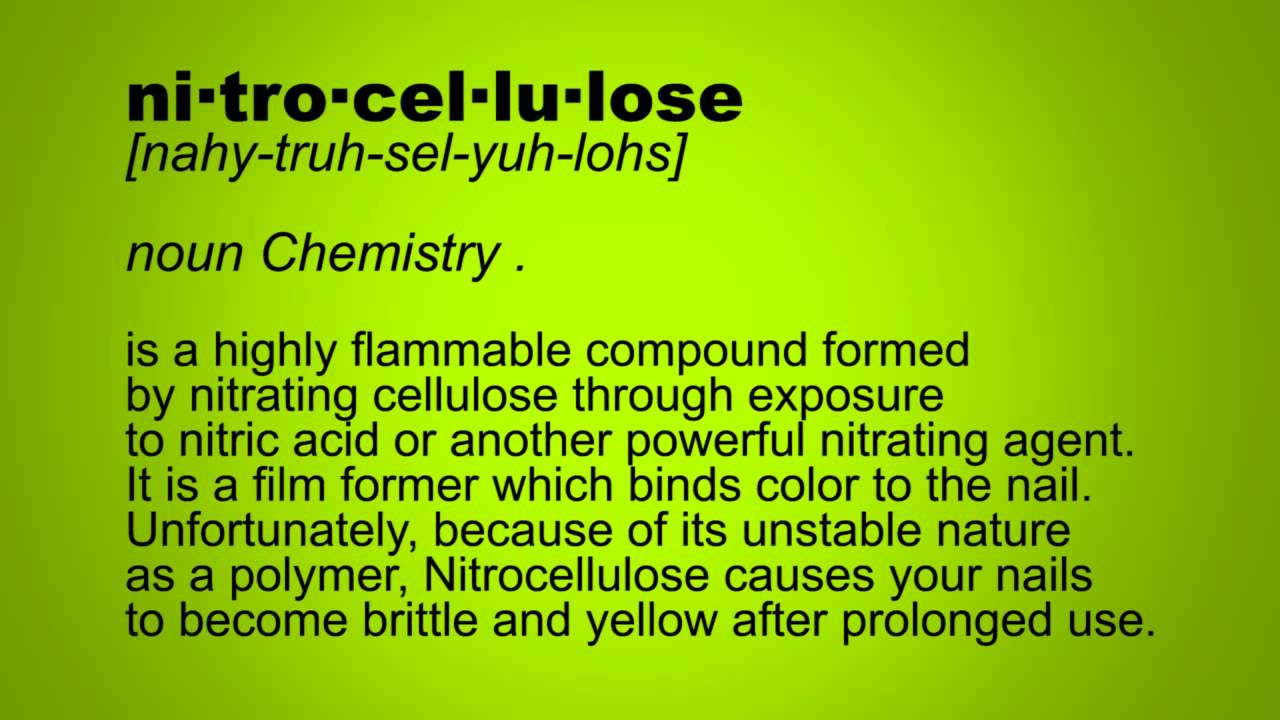 What is Nitrocellulose? - YouTube