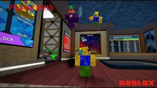 Playing With Crazyblox In Roblox Flood Escape 2