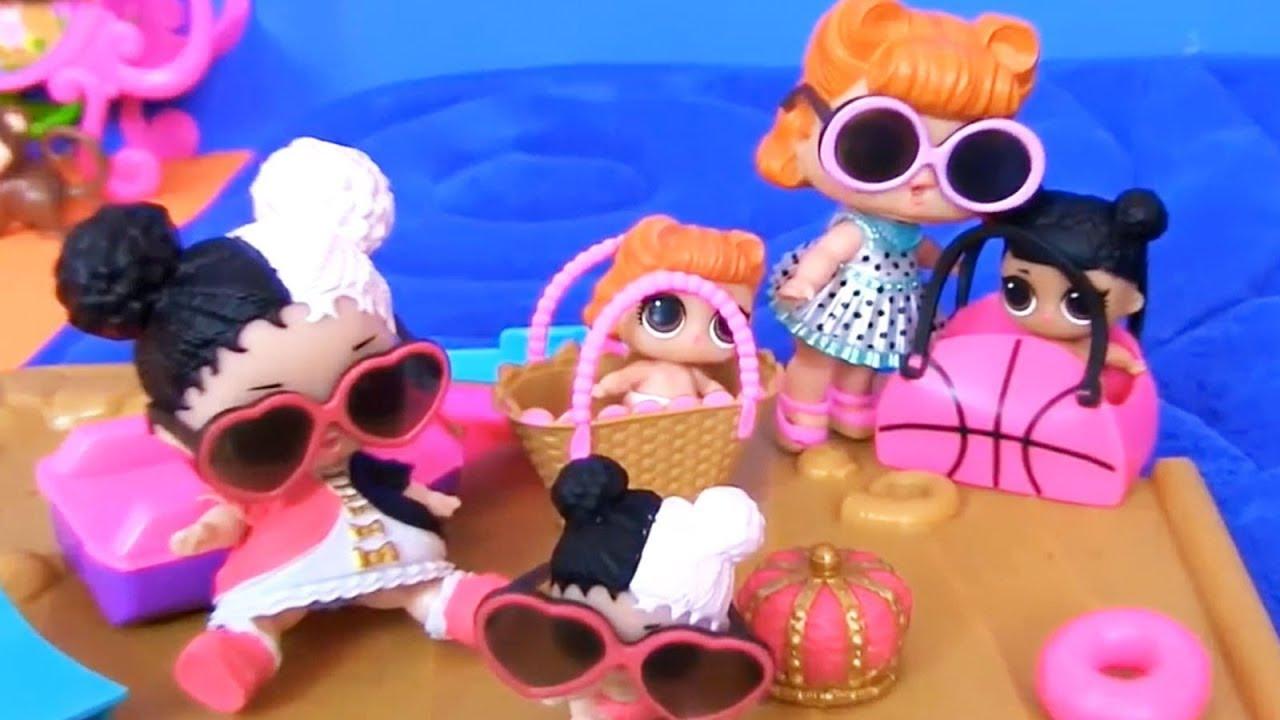 Куклы Лол Сюрприз! Один день из жизни Лол и Шопкинс ...