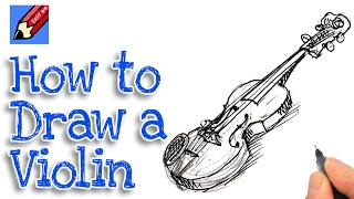 Learn how to draw a violin Real Easy for kids and beginners