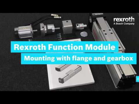 Rexroth Function Module (FMB) - Motor mounting with flange and gearbox