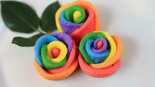 Rainbow Rose Cookies Recipe /butter Cookies Recipe
