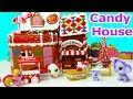 Hello Kitty Holiday Sweet Candy Gingerbread House Bakery Playset Mimmy Shopkins Littlest Pet Shop