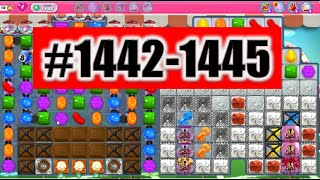 Candy Crush Saga Level 1442-1445 NEW! Complete!
