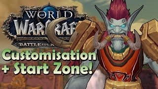 Zandalari Troll Customisation Options & Starting Zone Preview! | Battle for Azeroth