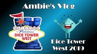 Ambie's Dice Tower West 2019 Vlog thumbnail